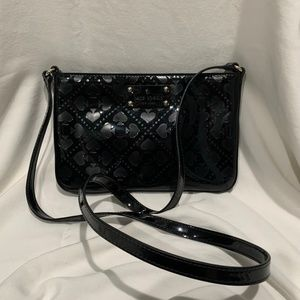 KATE SPADE Embossed Crossbody Patent Leather Purse